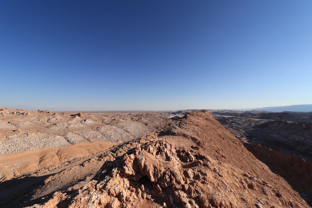 Ausblick im Valle de la Luna in der Atacama Wüste