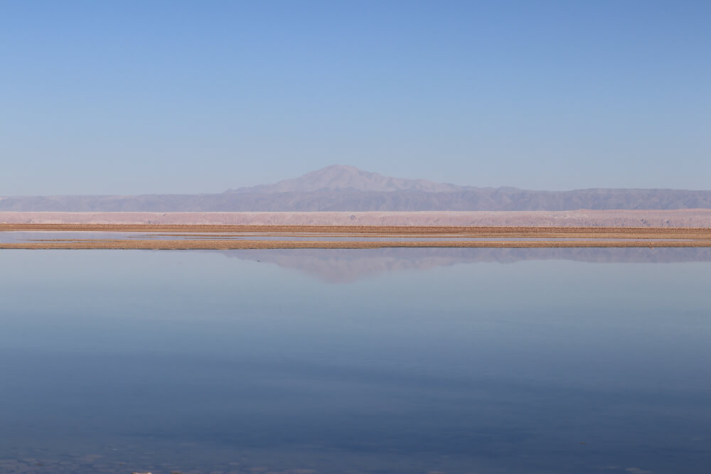 Laguna Chaxa in der Atacama Wüste in Chile
