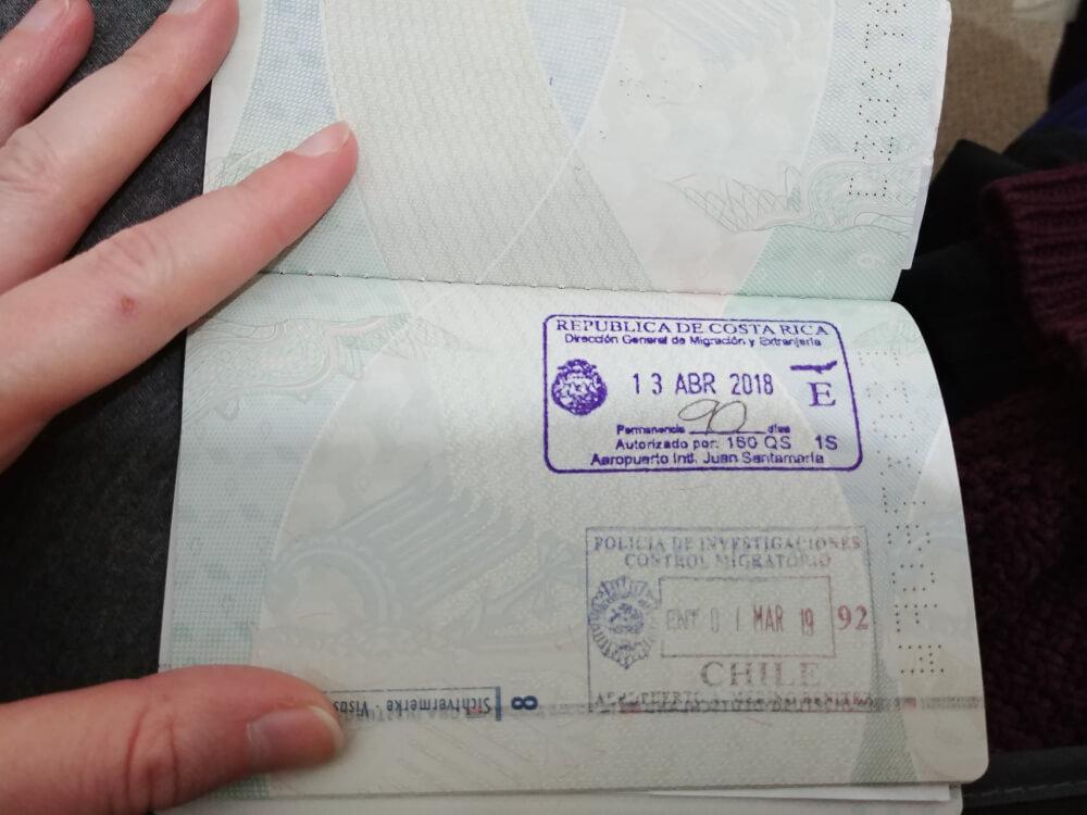 Einreisestempel Chile