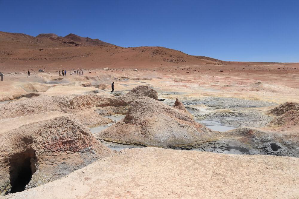 Sol de Mañana Geysire Bolivien