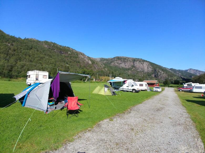 Ein Zeltplatz in Norwegen