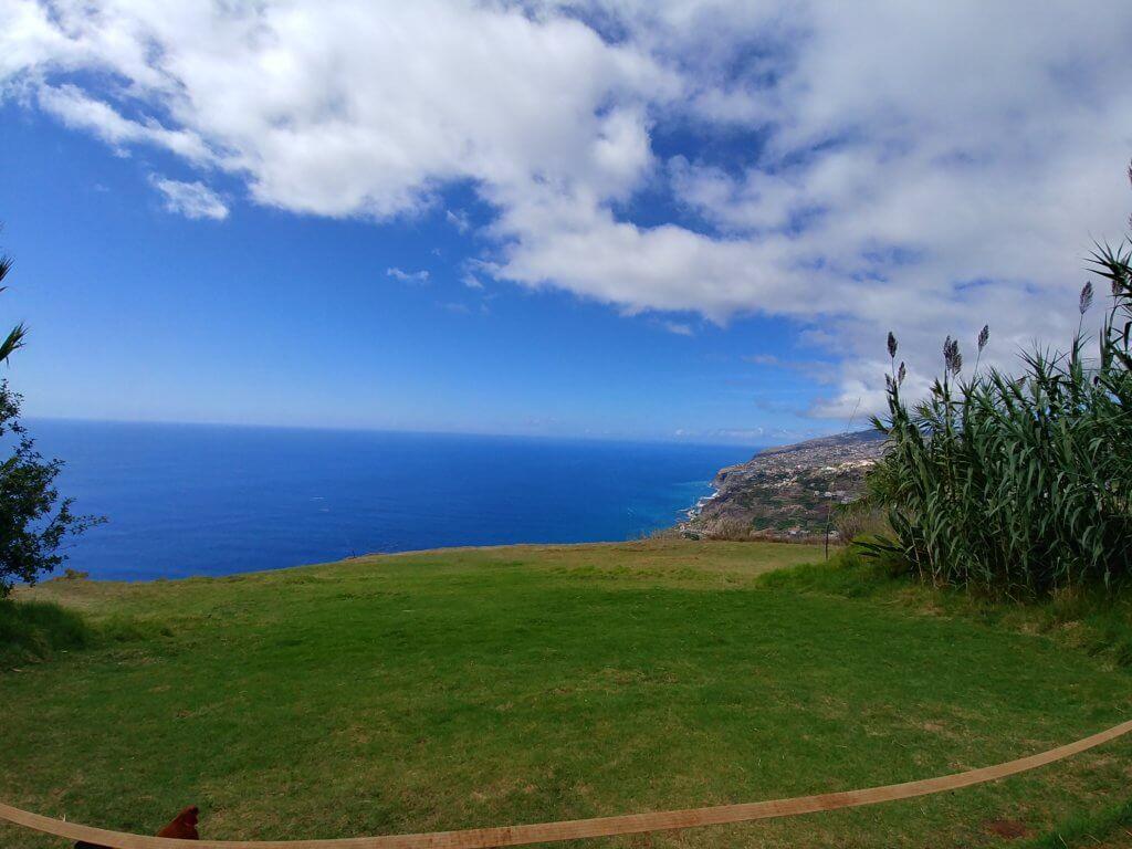 Ausblick aufs Meer bei Madeira Paragliding