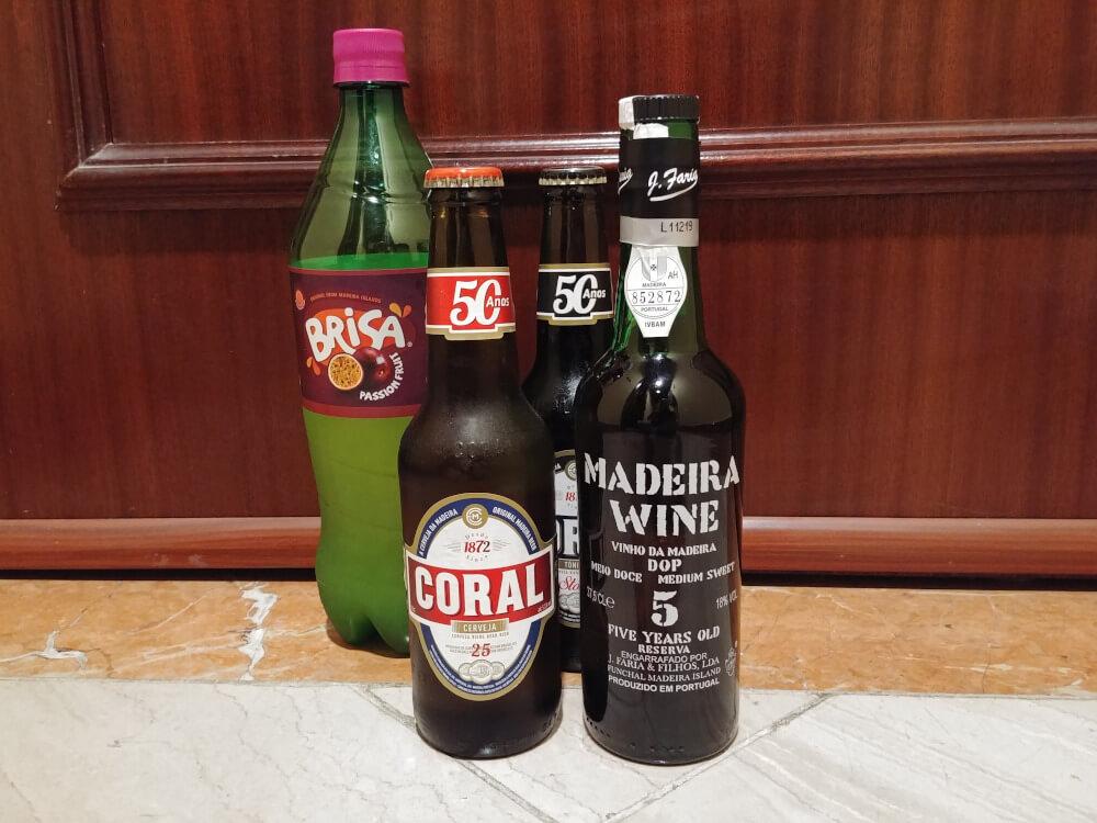 Brisa, Madeirawein und Coral Bier auf Madeira