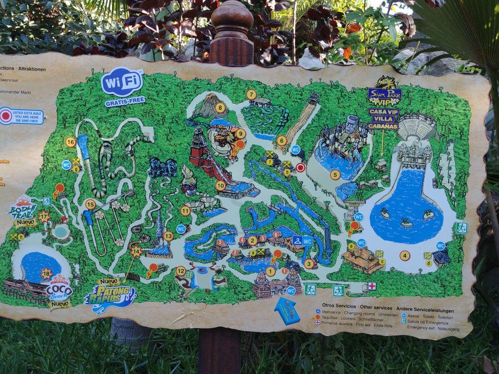 Siam Park Tipps: Parkplan im Siam Park