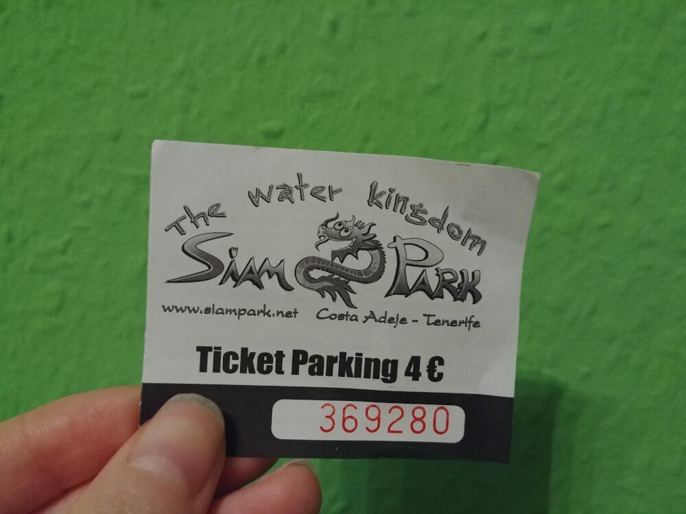 Parkplatz-Ticket Siam Park
