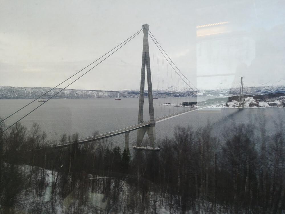 Halogaland Brücke bei Narvik