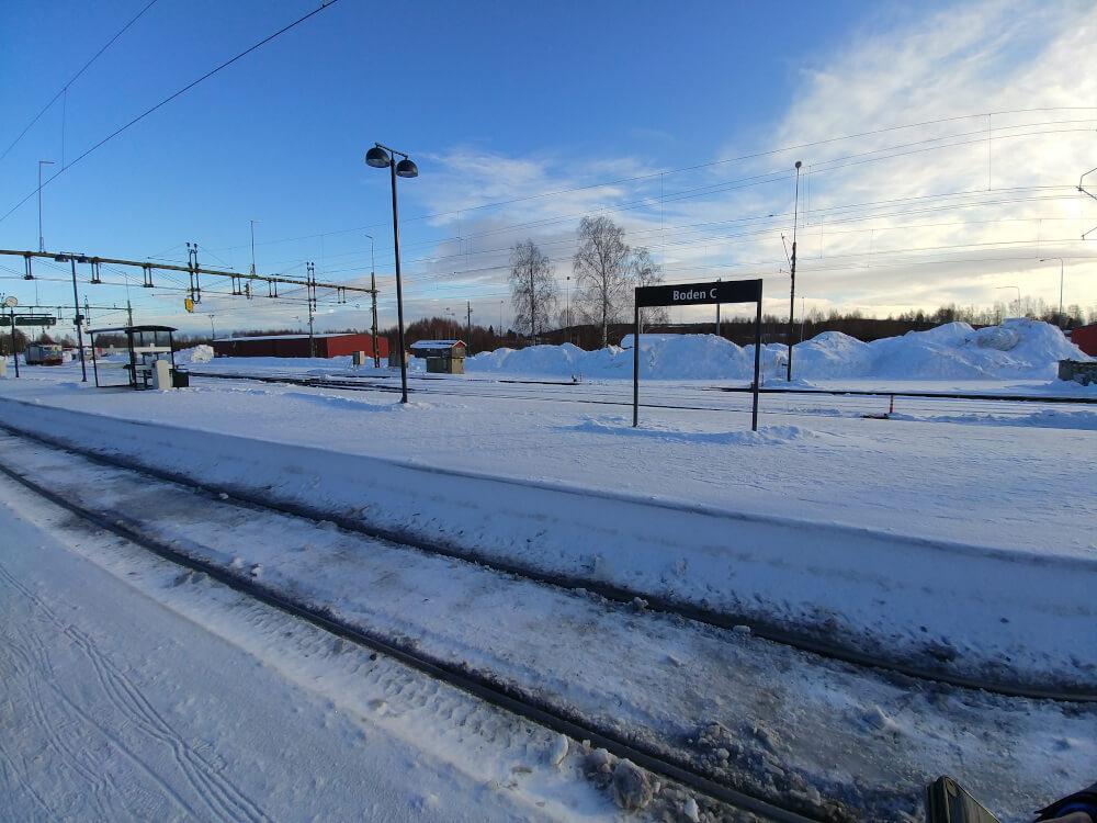Bahnhof Boden Central in Nord-Schweden