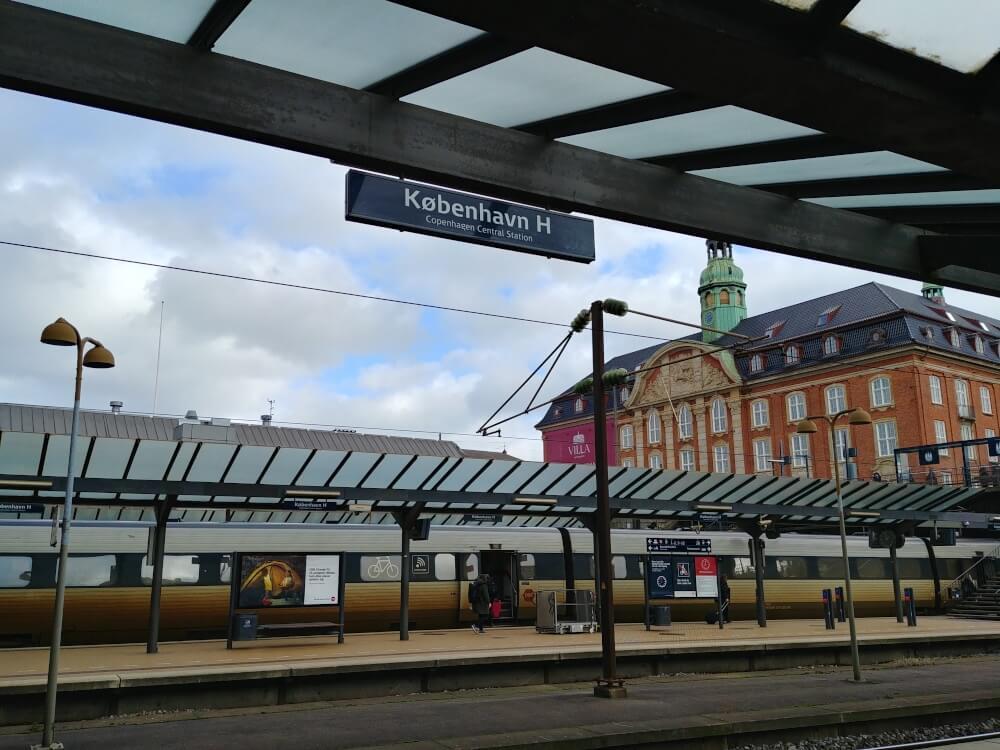 Gleis am Bahnhof in Kopenhagen