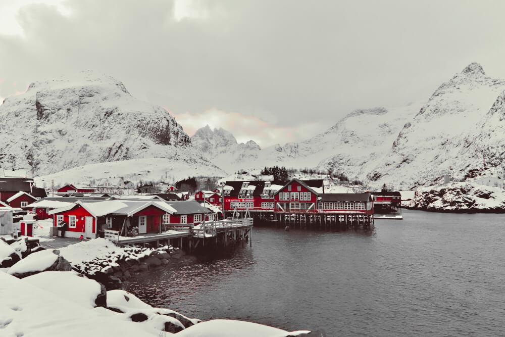 Der Ort Å auf den Lofoten