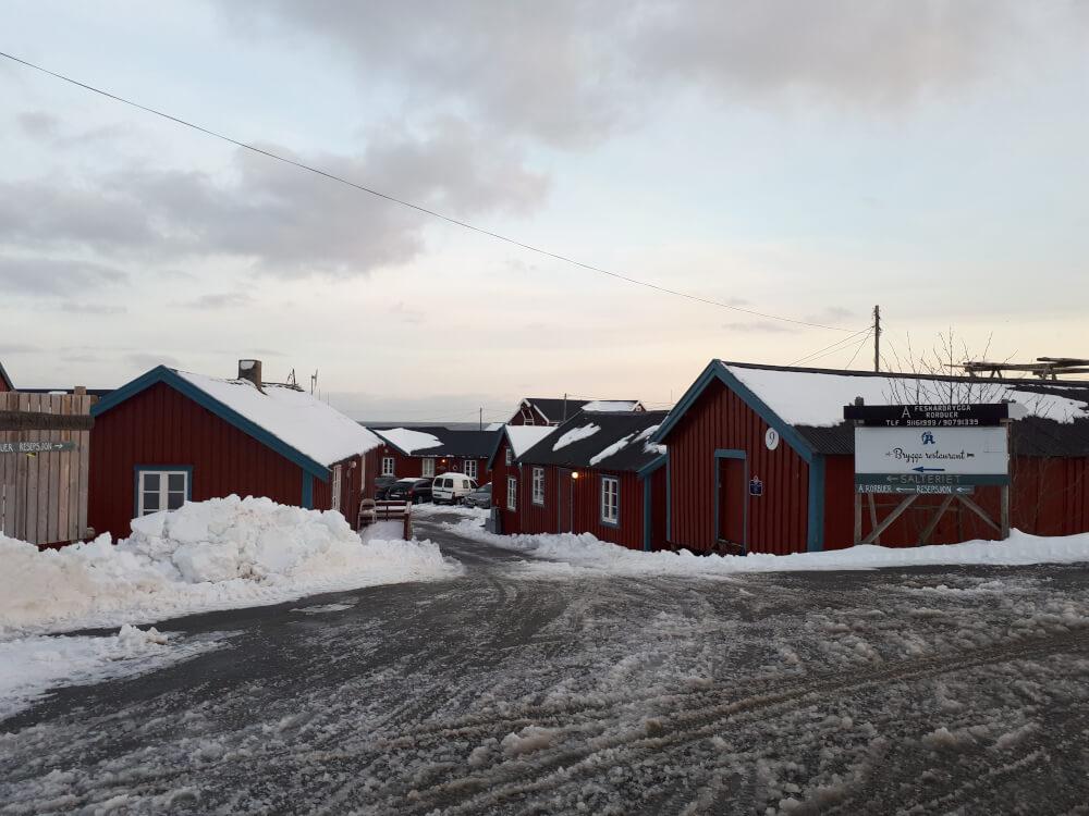 Å auf den Lofoten im Winter