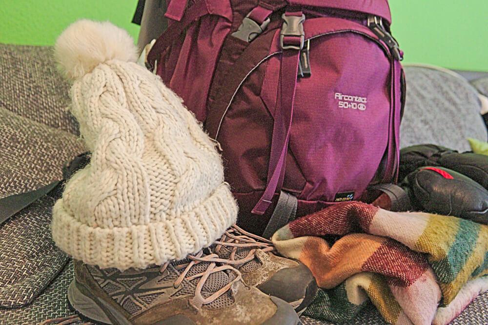 Packliste Lofoten: Rucksack und warme Klamotten