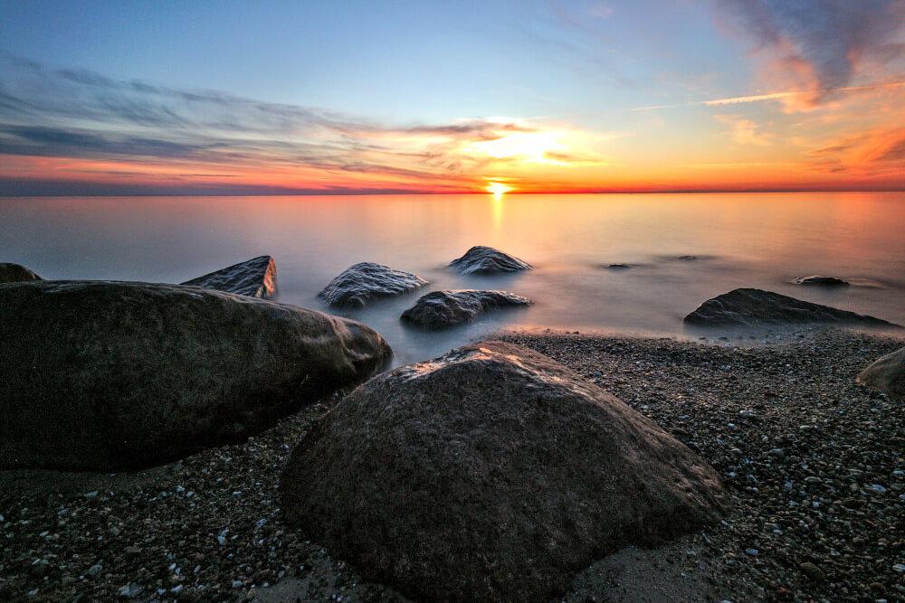 Sonnenuntergang am Strand Westermarkelsdorf auf Fehmarn