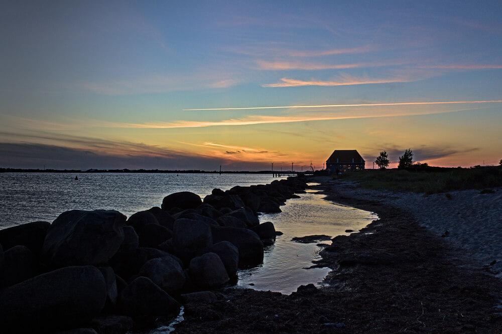 Südstrand Fehmarn bei Sonnenuntergang
