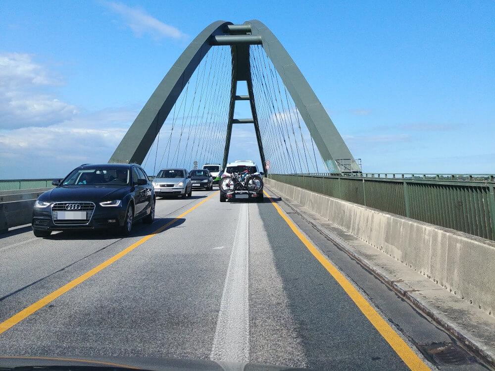 Anfahrt Fehmarn: Fehmarnsundbrücke