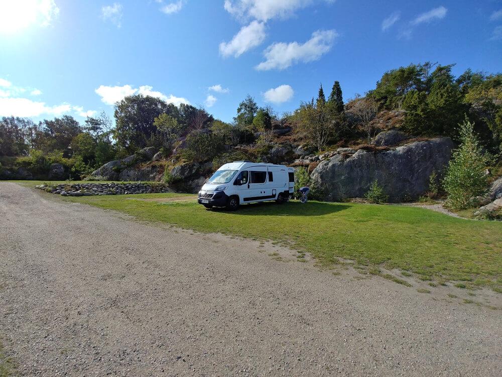 Campingplatz im Süden von Schweden
