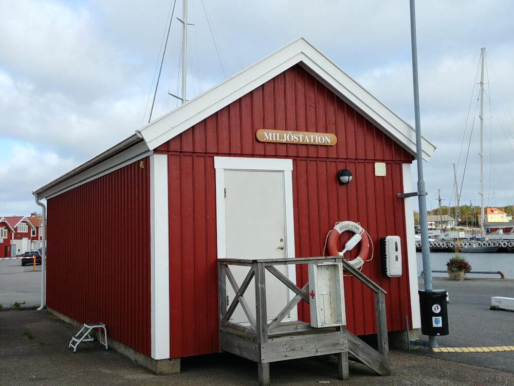 Müllstation in Schweden