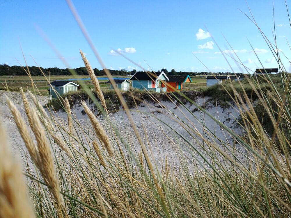 Camping in Schweden: Schwedische Badehütten