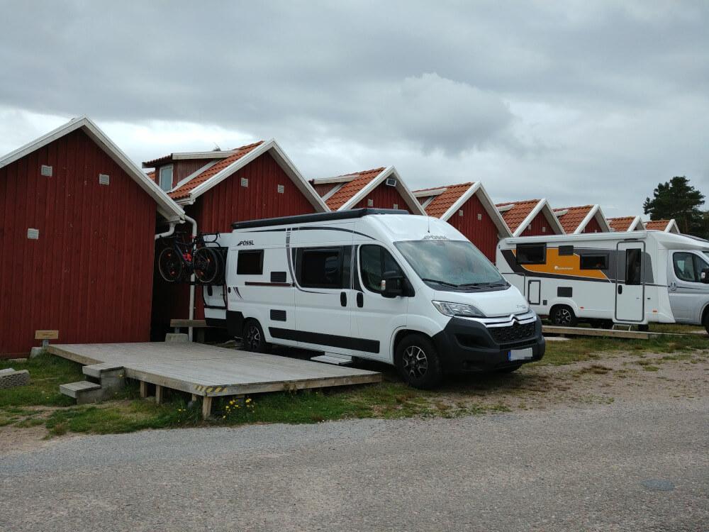 Camping in Schweden: Wohnmobilstellplatz